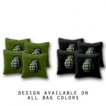 """Grenade"" Cornhole Bags - Set of 8"