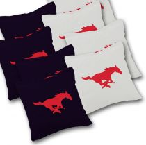SMU Mustangs Cornhole Bags - Set of 8