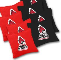 Ball State Cardinals Cornhole Bags - Set of 8