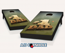 """Number 1 Dad Fishing"" Cornhole Set"