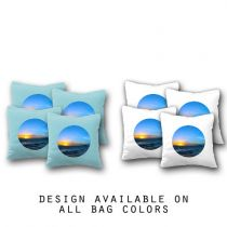 """Ocean"" Cornhole Bags - Set of 8"