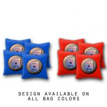 """Police"" Cornhole Bags - Set of 8"