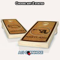 """Mix & Match"" State Stained Cornhole Set"