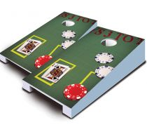 """Blackjack"" Tabletop Cornhole Set"