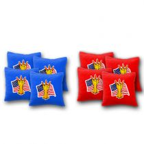 """USA Flag with Bullets"" Cornhole Bags - Set of 8"