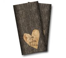 """Wedding Tree Carved"" Cornhole Wrap"