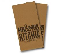 """Wedding Mr and Mrs"" Cornhole Wrap"