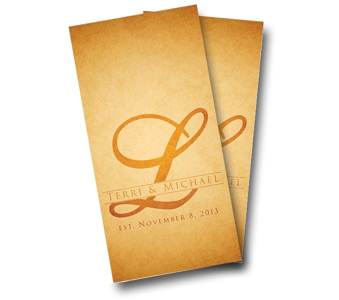 Wedding Letter Rustic Cornhole Wrap